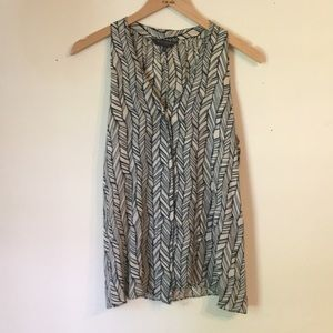 Waverly Grey Patterned Top